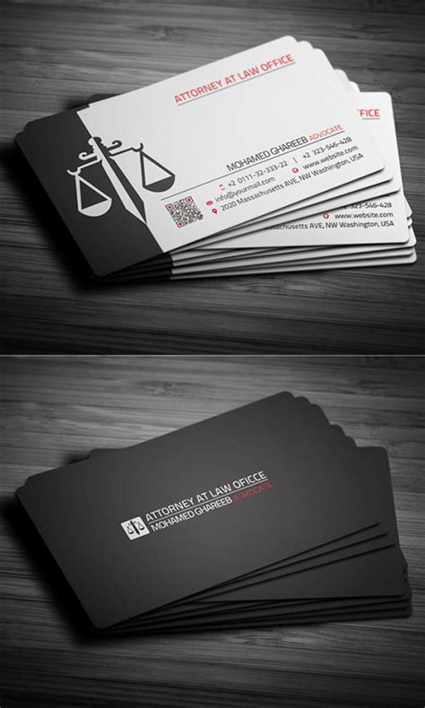Business Card Designs For Attorneys