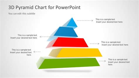 templates for powerpoint free 3d 3d pyramid template for powerpoint with 5 segments