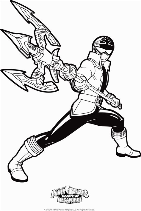Coloring Pages Of Power Rangers Megaforce | power rangers super megaforce coloring pages power