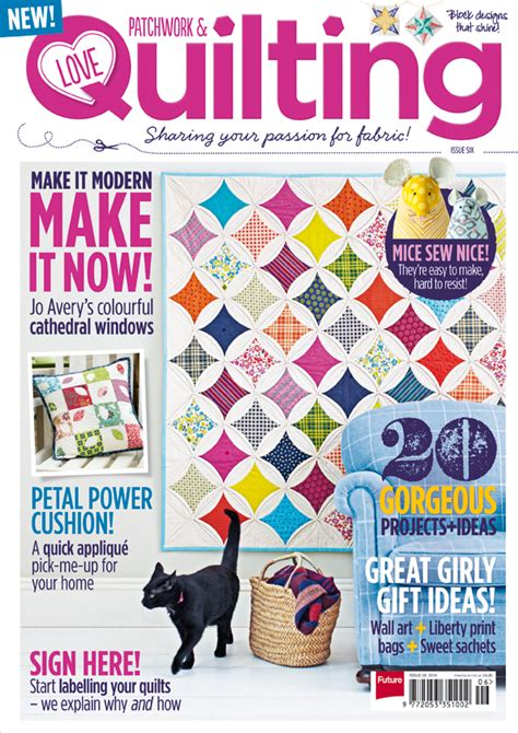 Patchwork Magazine - look inside issue 6 patchwork quilting