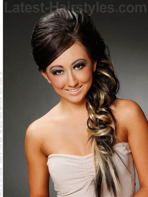 homecoming hairstyles with strapless dress the 15 hottest prom hair ideas