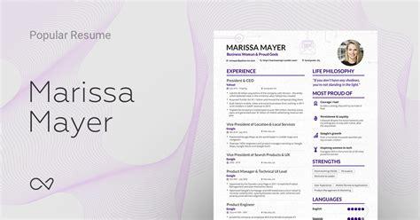 Marissa Mayer Resume by Marissa Mayer S Yahoo Ceo Resume Enhancv