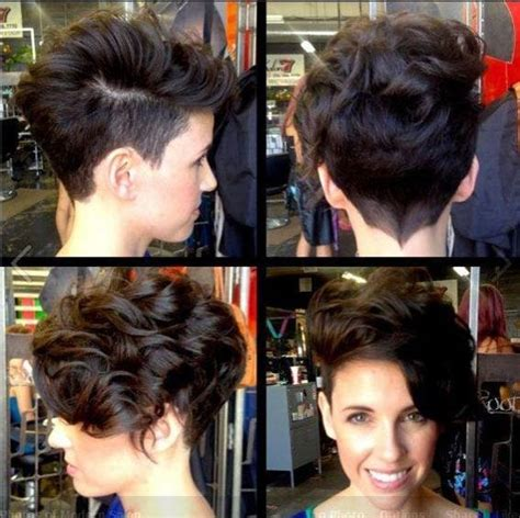 curly short hair with shaved down side 35 vogue hairstyles for short hair popular haircuts