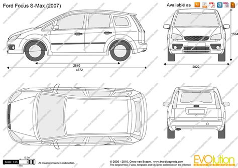 Ford Focus Interior Dimensions by The Blueprints Vector Drawing Ford Focus S Max
