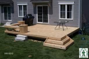 Simple Backyard Deck Ideas Bench Diy Deck Plans