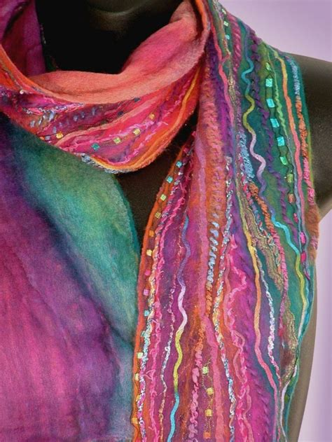 the textile artist the of felting and silk ribbon embroidery books best 25 nuno felt scarf ideas on nuno felting