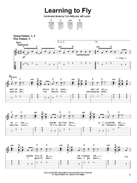 Learning To Fly Guitar Chords