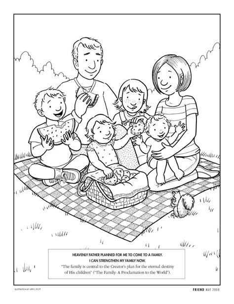coloring pages of family picnic familia coloring page unfortunately i had to cover up