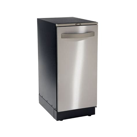 home trash compactor shop broan 14 87 in stainless steel undercounter trash