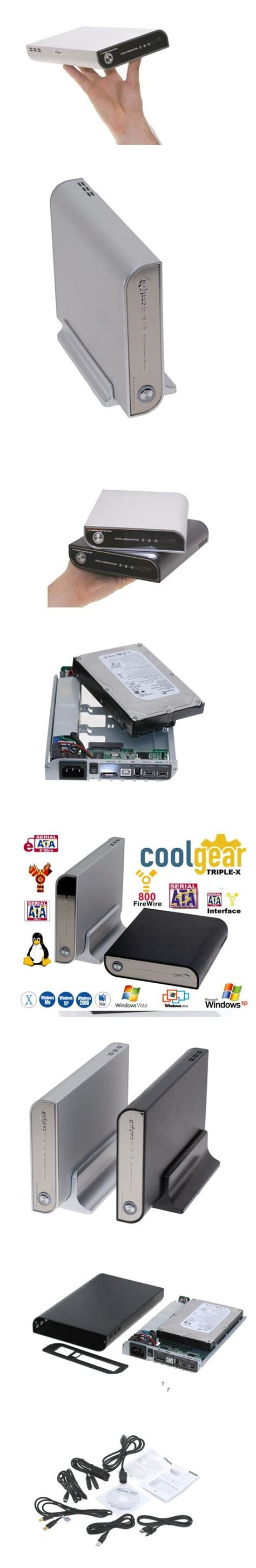 fan with ac built in 3 5 sata hdd enclosure with fan and built in ac adapter