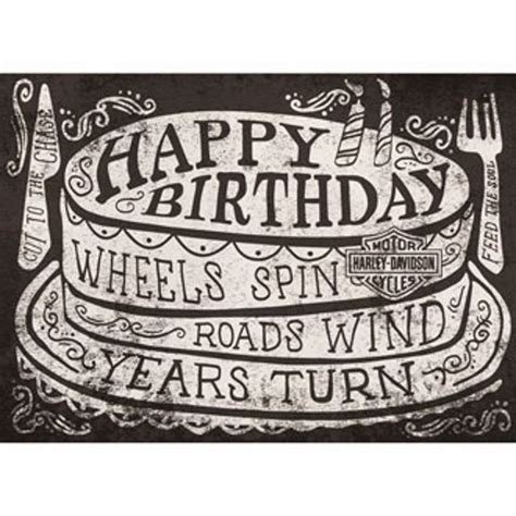 genuine harley davidson roll  birthday card harley birthday harley davidson birthday