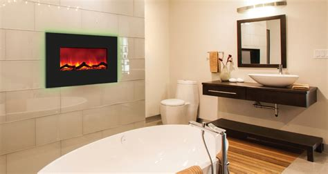 fireplace in bathroom wall amantii 26 quot wall mount or b i back lit