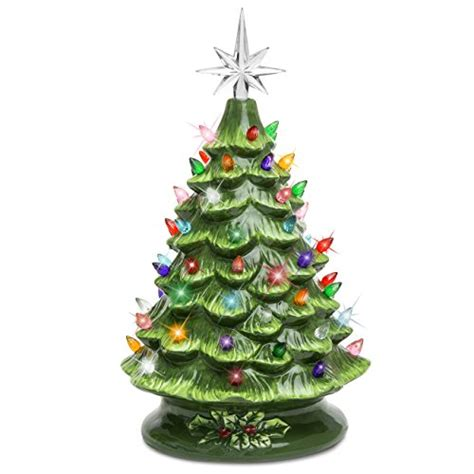 tree top with lights best choice products prelit ceramic tabletop
