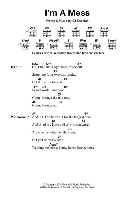 download mp3 ed sheeran i m a mess i m a mess sheet music by ed sheeran lyrics chords