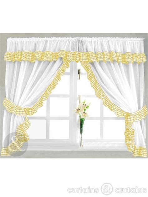black yellow curtains 25 best ideas about gingham curtains on pinterest