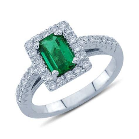 baguette cut emerald and gemstone ring in