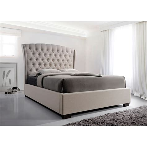 back of bed kaitlyn diamond tufted high headboard bed by crown mark