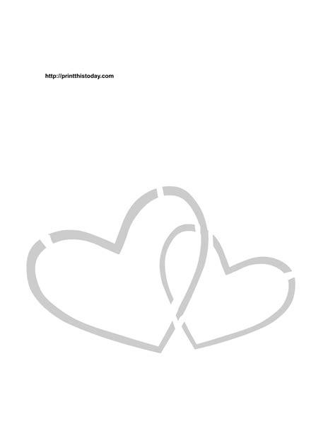 printable stencils of hearts free printable hearts stencils