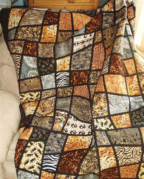 twin bed quilt size twin size bed quilt jungle animal prints in mosaic crazy