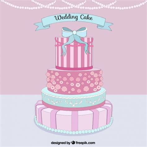Wedding Cake Vector by Delicious Wedding Cake Vector Premium