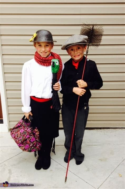 mary poppins  bert matching sibling costumes  kids