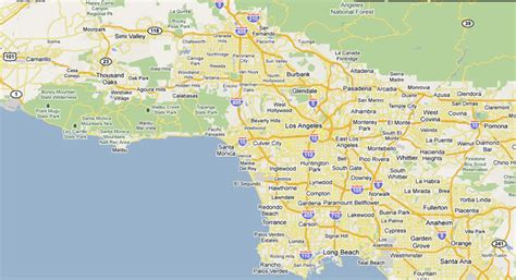 map of los angeles area map of greater los angeles area indiana map