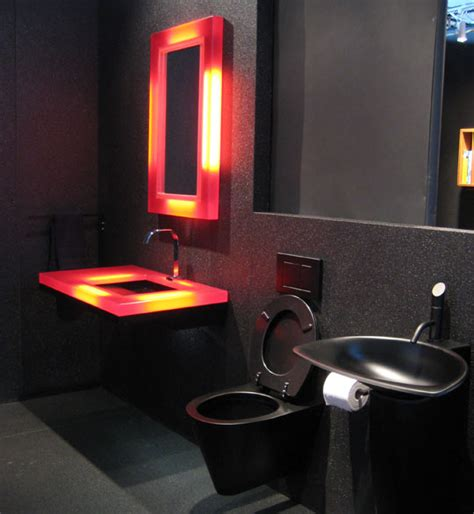 black and red bathroom ideas 19 almost pure black bathroom design ideas digsdigs