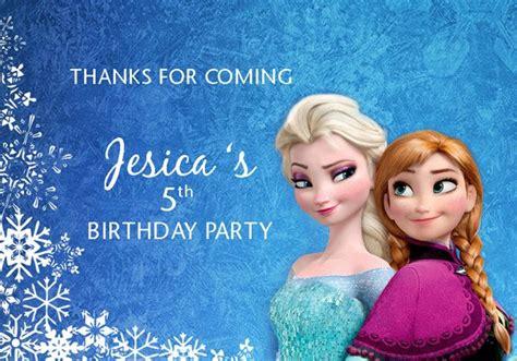 jual frozen sticker goodie bag ucapan ulang tahun