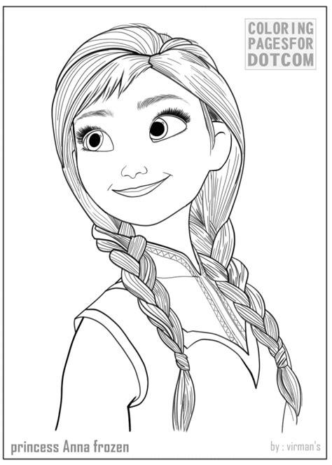 Princess Anna Frozen Coloring Pages 1 Coloring Pages Frozen Princess Pictures Printable