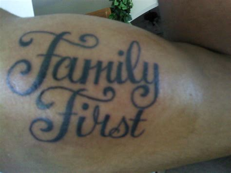 tattoo designs family first family first tattoos quotes quotesgram