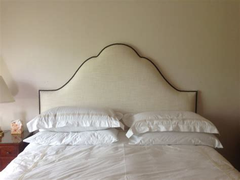 etsy upholstered headboard lovely cream linen headboard with nail accents