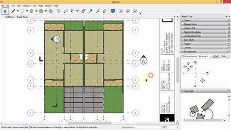 sketchup layout line type sketchup layout gambar kerja rumah type 52 kop