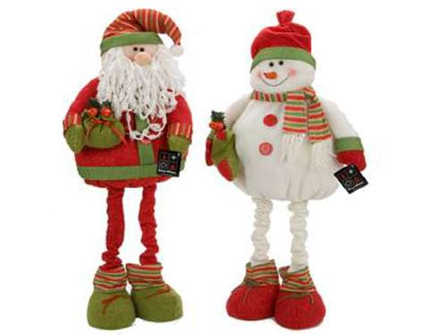 3ft high fabric plush christmas santa or snowman with