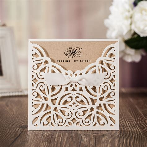 paper laser cutting wedding invitations 100 white paper laser cutting invitation cards birthday invitations hollow