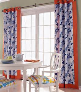 Orange And Blue Valance Window Treatments On 97 Pins