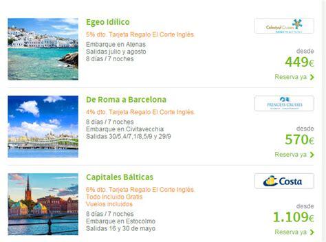 cruceros 2015 el corte ingles viajes el corte ingles cruceros 2015 disney y caribe