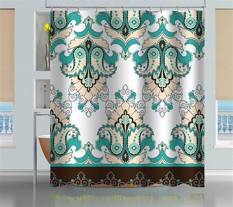oriental shower curtain bathroom oriental floral pattern shower curtain creativgoods