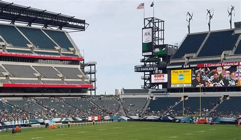 lincoln financial field standing room eagles temple lincoln financial field seating chart rateyourseats