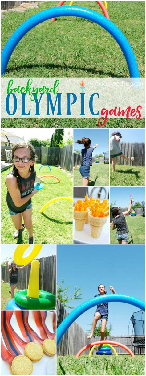 backyard olympic games for adults fun activities for children host your own backyard games
