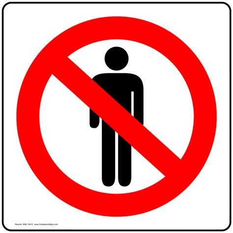 no standing symbol sign nhe 19414 restricted access