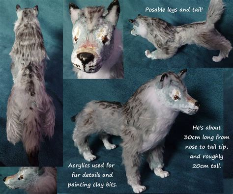 doll wolf grey wolf posable doll by dragondodo on deviantart