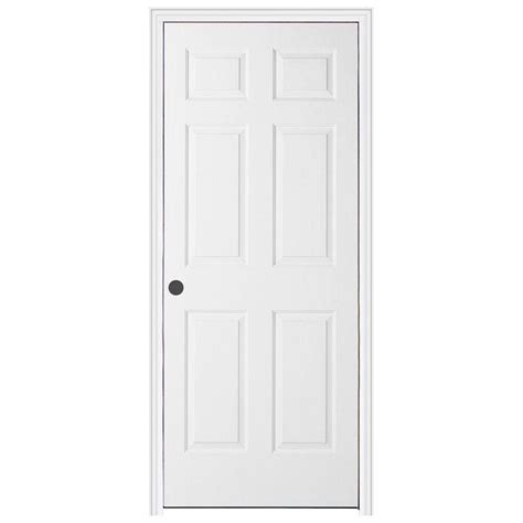 Home Depot Prehung Interior Doors Jeld Wen 30 In X 78 In Woodgrain 6 Panel Primed Molded