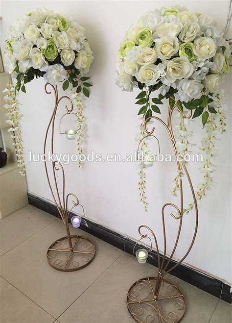 hot sale decorative  metal wedding flower stands buy