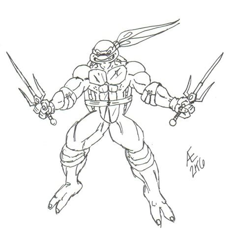 ninja turtles weapons coloring pages raphael the ninja turtle by king taurus on deviantart