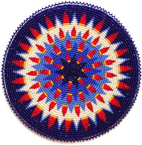 beaded rosettes patterns kq designs american beadwork powwow regalia and