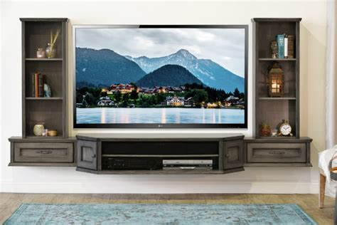 tv stand in middle of room 21 floating media center designs for clutter free living room