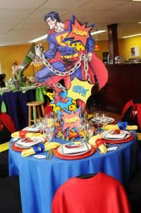 adult superhero party ideas super man centerpiece centerpieces pinterest super
