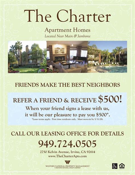 Apartment Marketing Tips Refer A Friend Apartment Flyer Apartment Marketing Ideas