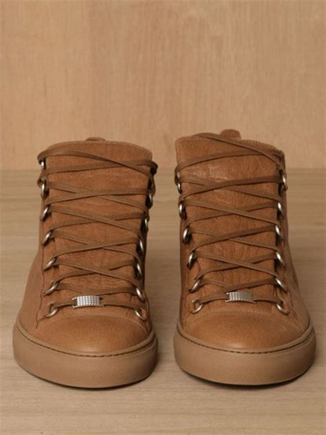 brown balenciaga sneakers balenciaga mens sport shoes in brown for lyst
