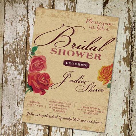 simple printable floral bridal shower invitations cheap ewbs055 as low as 0 94
